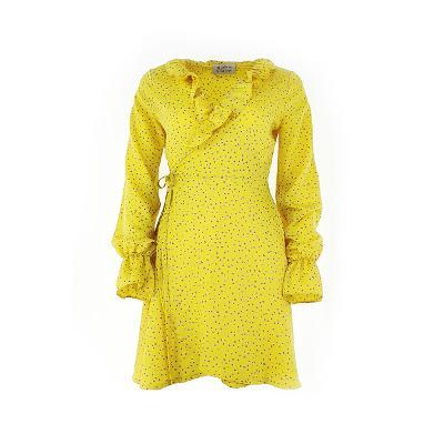dot frill wrap yellow